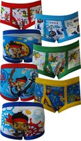 Handcraft Jake and the Neverland Pirates 7 pack Toddler Boys Briefs for Little Boys (2T-3T)