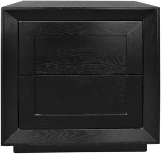 Cafe Lighting Montreal Bedside Table Tall Black