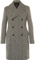 Prada Slim-Fit Double-Breasted Virgin Wool-Blend Bouclé Overcoat