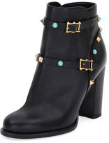 Valentino Rockstud Rolling 100mm Ankle Boot, Black