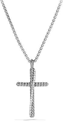 David Yurman Crossover Cross with Diamonds on Chain
