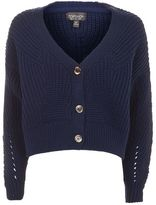 Topshop Cropped fisherman cardigan
