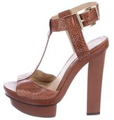Brian Atwood Embossed Platform Sandals