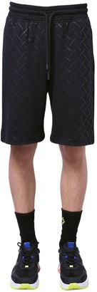 Marcelo Burlon County of Milan All Over County Print Jersey Shorts