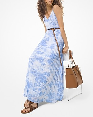 MICHAEL Michael Kors Tie Dyed Pleated Maxi Dress