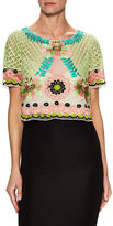 Temperley London Chiffon Embroidered Top