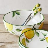 Sur La Table Hand-Painted Lemon Serving Bowl