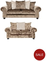 Laurence Llewellyn Bowen Scarpa 3-Seater + 2-Seater Fabric Sofa Set