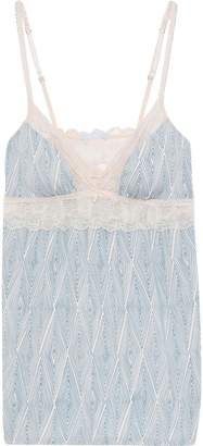 Eberjey Lace-trimmed Printed Stretch-modal Jersey Camisole