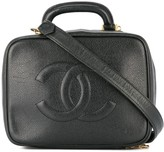 Chanel Pre Owned 1996-1997 2way Cosmetic Vanity Hand Bag