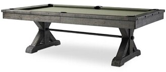 "Plank & Hide Otis Slate Pool Table With Professional Installation Included Felt Color: Purple, Size: 96"" W x 58"" D"