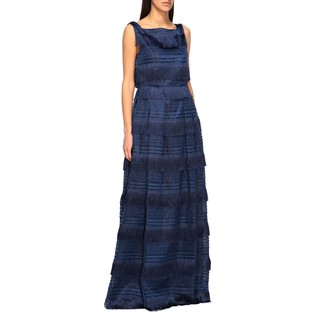Alberta Ferretti Long Dress With Fringes