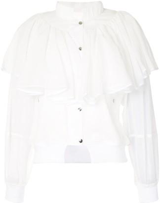Enfold Semi Sheer Frill Jacket