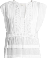 Etoile Isabel Marant Rodge lace-insert cotton top