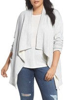 Caslon Plus Size Women's Knit Drape Front Jacket