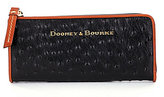 Dooney & Bourke Ostrich-Embossed Zip Clutch