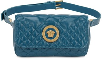 Versace Icon Quilted Patent Leather Belt Bag