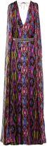 Matthew Williamson Sweetie Ragadang Rainbow Silk Sail Gown