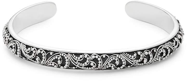 Lois Hill Women's Sterling Silver Swirl Cuff Bracelet