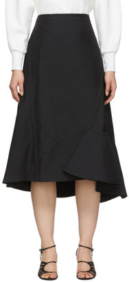 3.1 Phillip Lim Black Ruffle Hem Skirt
