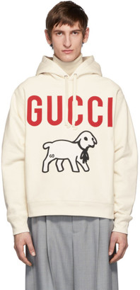 Gucci Off-White Oversized Lamb Hoodie