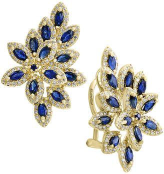 Effy Fine Jewelry 14K 3.52 Ct. Tw. Diamond & Sapphire Earrings