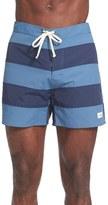 Saturdays Nyc Offset Stripe Board Shorts