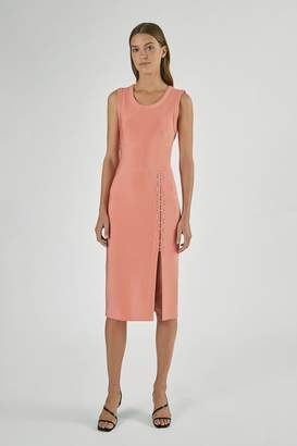 Yigal Azrouel Mechanical Stretch Dress With Lacing