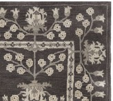 Pottery Barn Kennedy Persian Rug Swatch - Charcoal Multi