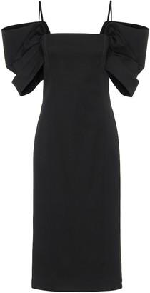 Carolina Herrera Stretch-wool sheath dress