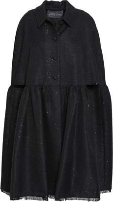 Lela Rose Sequined Tweed Cape