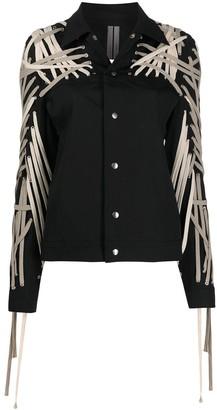 Rick Owens Denim Lace Detail Jacket