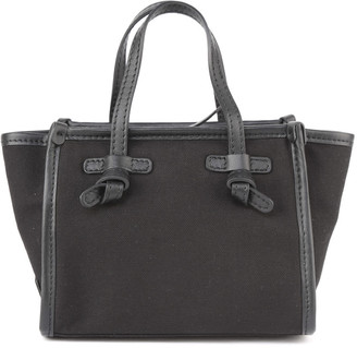 Gianni Chiarini Marcella Small Bag In Canvas With Leather Trim