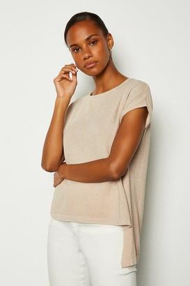 Karen Millen Short Sleeve Knitted Top
