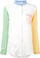 Thom Browne block colour shirt - women - Silk - 38