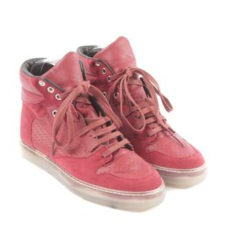 Balenciaga \N Red Leather Trainers