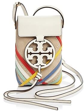 Tory Burch Miller Mini Zig Zag Leather Phone Crossbody