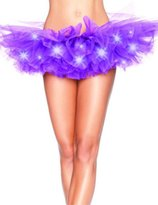 Onlybaby Women's LED Light Up Tutu Mini Skirt Party Stage Show Club Dress