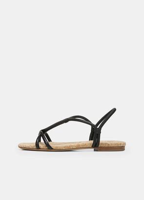 Vince Leather Hazen Rope Sandal