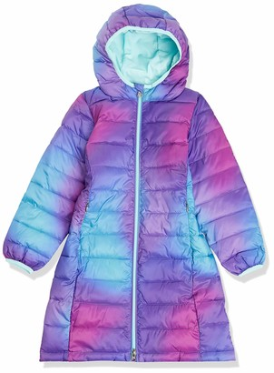 Amazon Essentials Big Girl's Girls' Long Light-Weight Hooded Puffer Sweater