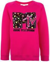 Marc Jacobs MTV x embellished sweatshirt - women - Polyamide/Polyester/Wool/Tencel - M