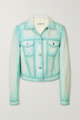 Lanvin Leather Jacket - Blue