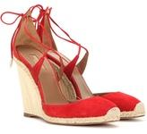 Aquazzura Karlie 110 Wedge Suede Sandals