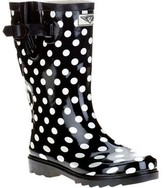 Forever Young Ladies Short Shaft Rain Boots Polkadot