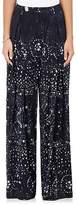 Warm Women's Sun Tie-Dyed Silk Crossover Pants
