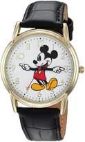 Disney Men's 'Mickey Mouse' Quartz Metal Casual Watch, Color: (Model: WDS000404)