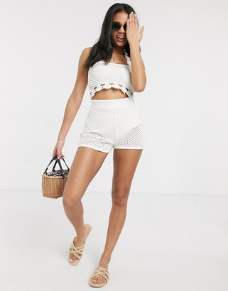 ASOS DESIGN two-piece crochet knitted shorts