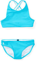 Ralph Lauren 2-6X Cross-Back Two-Piece Swimsuit