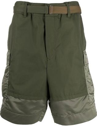 Sacai panelled cargo shorts