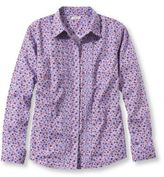 L.L. Bean Wrinkle-Resistant Pinpoint Oxford Shirt, Pin-Tucked Floral